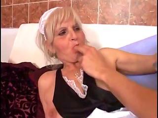 juvenile fellow copulates an old granny
