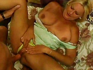large tit granny sucks and copulates