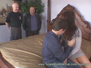 brunette hair cowgirl spanked while riding a cock