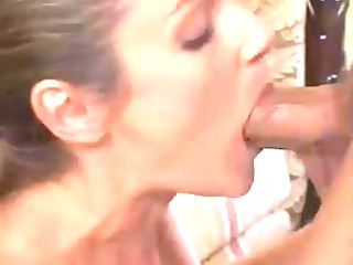 husband watches how her wife drilled,by