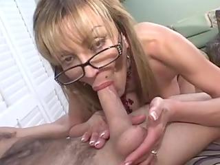 mature breasty golden-haired sucks big shlong