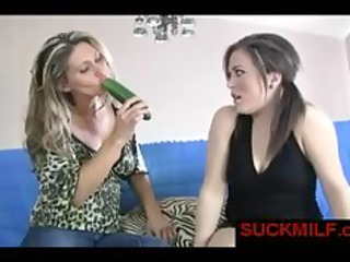 mother i gives oral-service lesson for younger