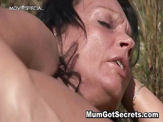horny milf gets screwed hard outdoor part0