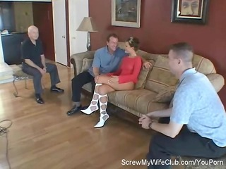 hotwife screwed by stranger, hubby approves!