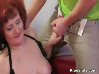 mom has great large pantoons as she is bends part7