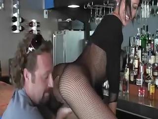 hot mamma has sex in the bar