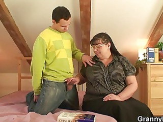 fat bookworm bitch receives pounded by