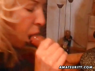 older amateur wife home full orall-service with
