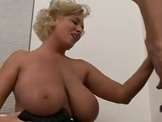 older blond with giant bumpers