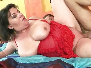 breasty obese grandma getting fucked hard