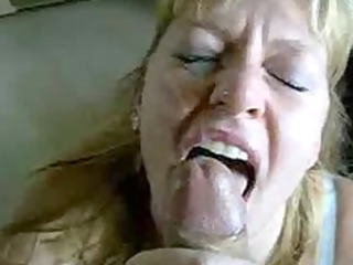 blonde mother i blows and acquires a giant facial