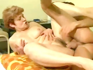 granny gets her slit fucked and rides his weenie