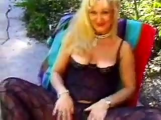 granny fucked in the family backyard