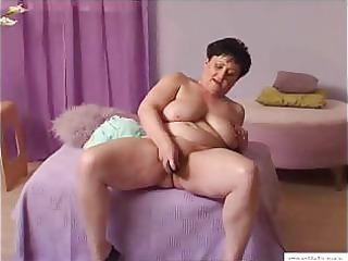 111 years granny mariska masturbates at home