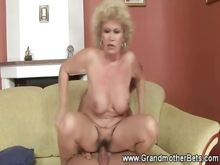wicked cockstarved granny receives fucked