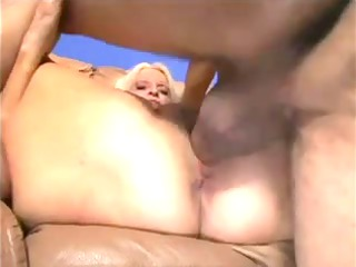 obese golden-haired granny drilled by youthful boy