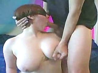blindfolded with excellent tits facefucked