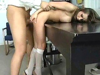 office bitch and d like to fuck has three-some
