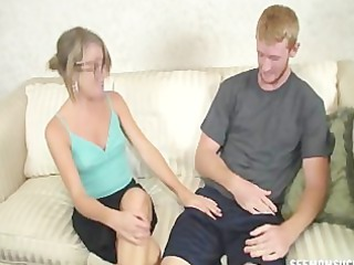 experienced lady sucks a large schlong