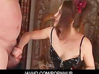 dominatrix koran thraldom wang jerking foot job