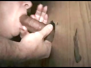 gloryhole wife gets a large one