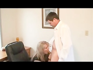 hawt blond in office sex