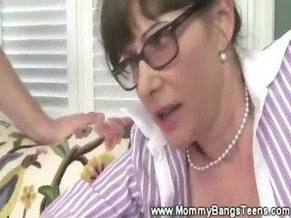 milf helps young copule on their fuck