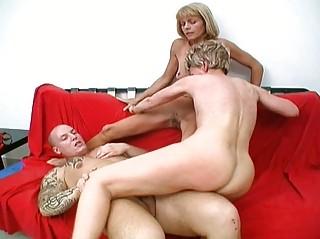 sexy granny harlots share one favourable rod