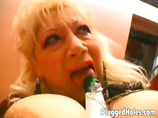 breasty d like to fuck rides a bottle like eager