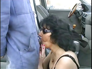 mature italian doxy visits the truck stop and