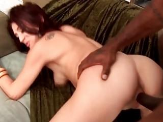 foxy redhead d like to fuck slut bonks outdoor
