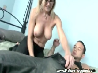 milf can not keep her hands off the help