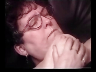granny cum on glasses