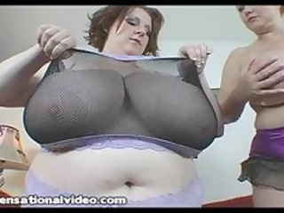 massive tit bbw wives takes on a large cock