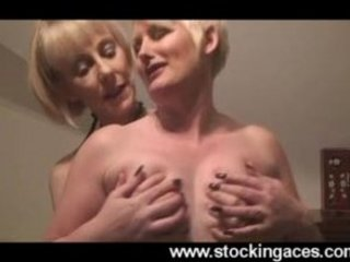 stocking milfs hazel and sally jointly