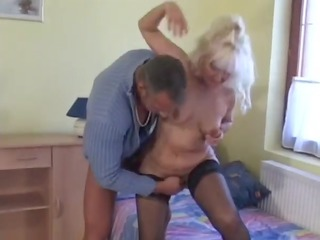 hawt golden-haired euro granny assbanged in