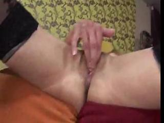 slim granny uses marital-device and receives her