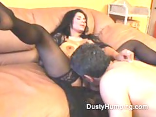 aged dark brown copulates an mature lad as his