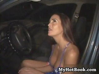 cheyenne hunter is hanging out in her car putting