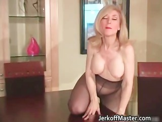 lascivious golden-haired mum with big hooters