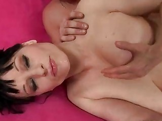 mature breasty mary bows over