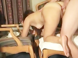 she is gets stuffed in each hole with shiftys