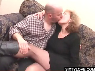 blonde aged acquires fur pie teased