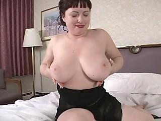 hawt brunette hair mother i show us her big boobs