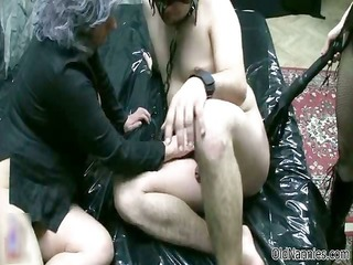 old woman goes crazy jerking and engulfing part2