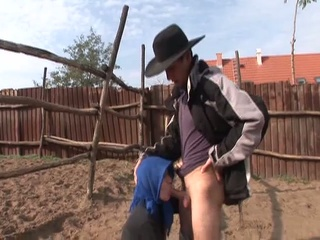 granny wants threesome youthful cowboy to ride