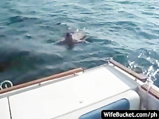 non-professional sex on the boat