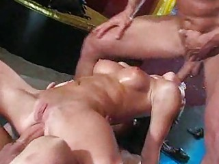 group sex joy receives wild with hot milf sluts