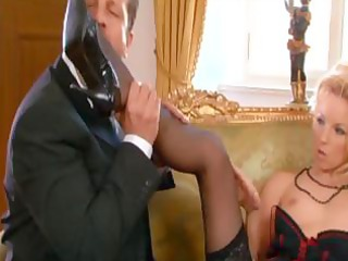 hot looking golden-haired mom sucks pecker and