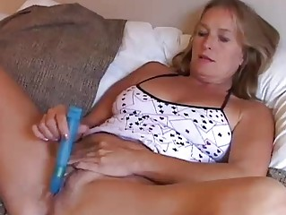 mature sweetheart enjoys a smoke and a wank